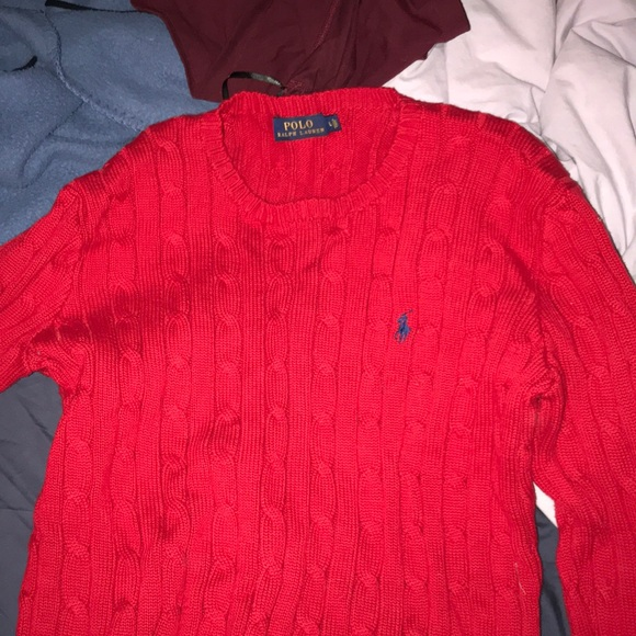 97ee7b03bd8fa Lauren Ralph Lauren Sweaters - RALPH LAUREN POLO WOMENS RED SWEATER